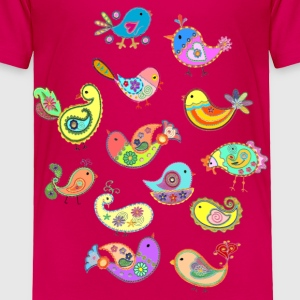 paisley birds - Toddler Premium T-Shirt
