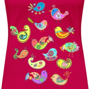 paisley birds - Women's Premium T-Shirt