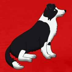 border collie sit T-Shirts