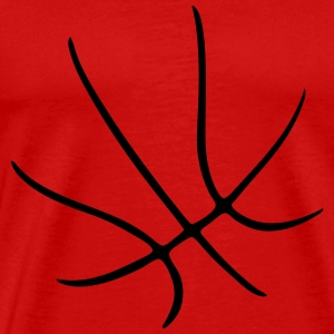 BASKETBALL - SHAPE - BBALL - RED T-Shirt - Men's Premium T-Shirt
