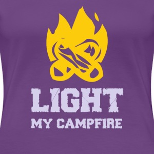 Light my Campfire Women's T-Shirts - Women's Premium T-Shirt