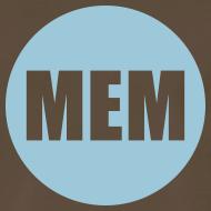 Design ~ Men's Blue Circle Logo Heavy Weight T-Shirt