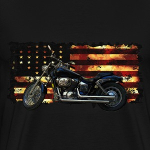 Union Flag, Civil War, Motorcycle - Men's Premium T-Shirt