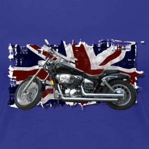 Union Jack Flag & Motorbike - Women's Premium T-Shirt