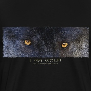 Grey Wolf Eyes - Men's Premium T-Shirt