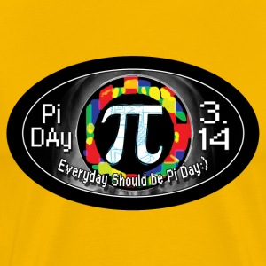 Pi Day Oval - Men's Premium T-Shirt