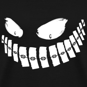 Scary Grin - braces - shirt - Men's Premium T-Shirt