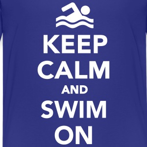 Keep calm and swim on Kids' Shirts - Kids' Premium T-Shirt