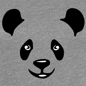 panda teddy bear face cute animal save Women's T-Shirts - Women's Premium T-Shirt
