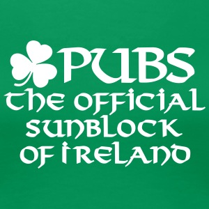 Pubs, the official sunblock of Ireland Women's T-Shirts - Women's Premium T-Shirt