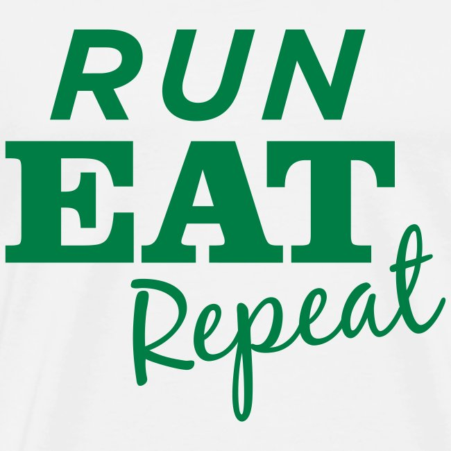 Run Eat Repeat tee male