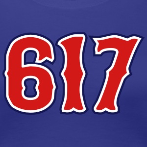 617 Boston, MA Area Code Women's T-Shirts - Women's Premium T-Shirt