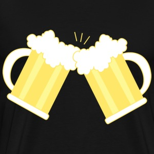 two mugs of beer - Men's Premium T-Shirt