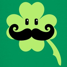 Irish mustache (3c) Kids' Shirts