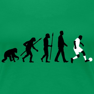 evolution of man soccer Women's T-Shirts - Women's Premium T-Shirt