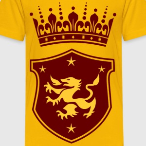Crown and Shield Kids' Shirts - Kids' Premium T-Shirt
