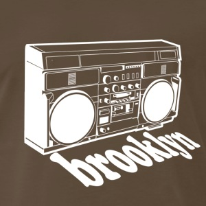 Vintage Brooklyn Boombox - Men's Premium T-Shirt