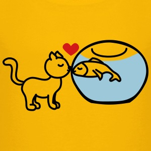 cat fish true love Kids' Shirts - Kids' Premium T-Shirt