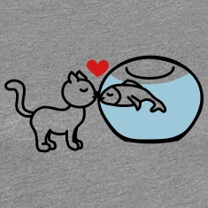 cat fish true love Women's T-Shirts