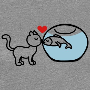 cat fish true love Women's T-Shirts - Women's Premium T-Shirt