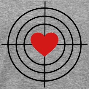 Heart is Target T-Shirts - Men's Premium T-Shirt