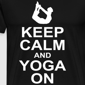 keep calm and yoga on T-Shirts - Men's Premium T-Shirt