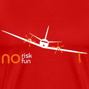 no risk no fun aircraft - Men's Premium T-Shirt