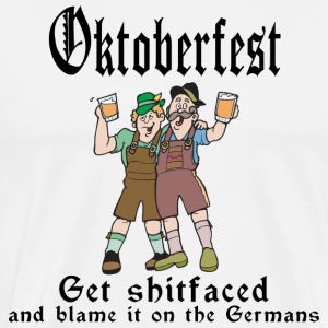 Oktoberfest Get Shit Faced T-Shirt - Men's Premium T-Shirt