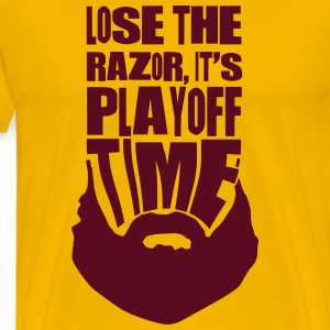 It's Playoff Time, Beard, Hockey Baseball T-Shirts - Men's Premium T-Shirt
