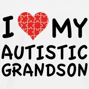 I Love My Autistic Grandson - Men's Premium T-Shirt