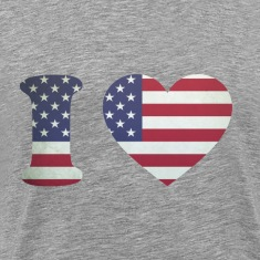 USA Heart Flag T-shirts (manches courtes)