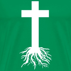 Cross with Roots T-Shirts - Men's Premium T-Shirt