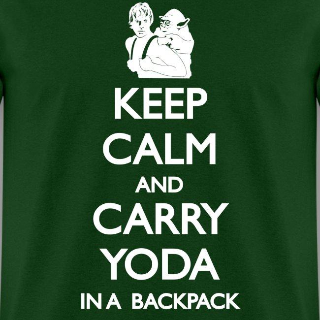 Keep Calm and Carry Yoda Mens
