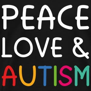 Peace Love & Autism - Men's Premium T-Shirt