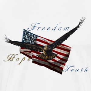 American Pride Bald Eagle & Flag T-Shirts - Men's Premium T-Shirt