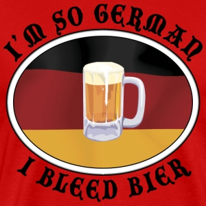 I'm So German I Bleed Bier T-Shirt - Men's Premium T-Shirt