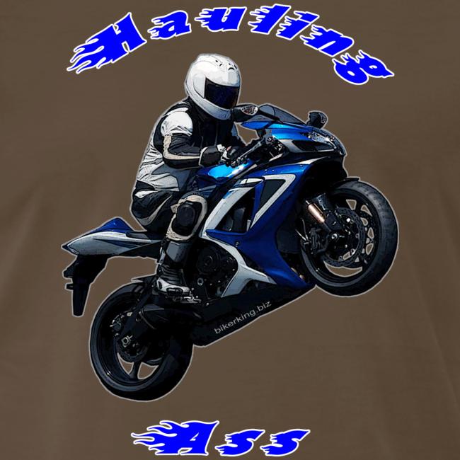 Men's Premium T SportBlue Hauling Ass (Front)