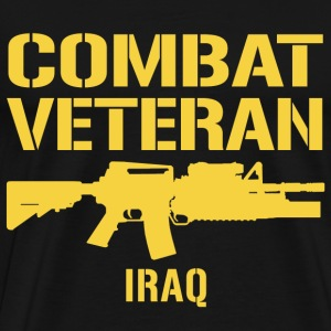 Combat Veteran Iraq  - Men's Premium T-Shirt