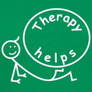 Therapy helps. T-Shirts - Men's Premium T-Shirt