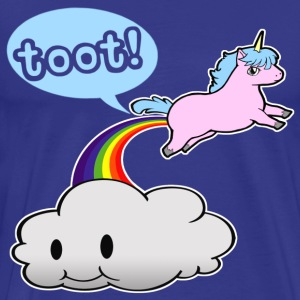 Cute Unicorn Fart - Men's Premium T-Shirt