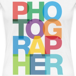 Colorful Photographer Ladies Fitted Classic Tshirt - Women's Premium T-Shirt