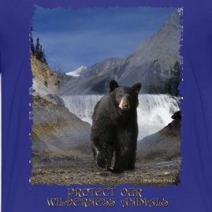 Black Bear & Waterfall - Kids' Premium T-Shirt