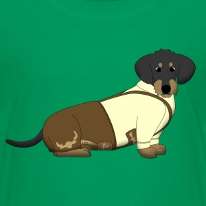 bavarian dachshound with lederhose Kids' Shirts - Kids' Premium T-Shirt