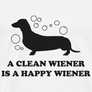 A Clean Wiener Is A Happy Wiener - Men's Premium T-Shirt