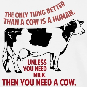 Fringe Quote: Then you need a cow - Men's Premium T-Shirt