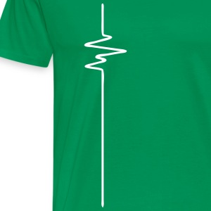 FREQUENCE (vertical) - FREQUENCY - BEAT - BASS - Men's Premium T-Shirt