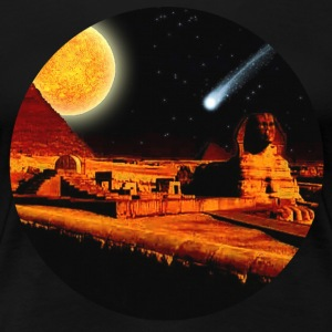 Egyptian Sphinx, Pyramid & Comet - Women's Premium T-Shirt