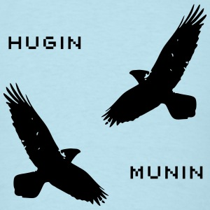 Mens T-Shirt Odins Ravens Hugin and Munin - Men's T-Shirt