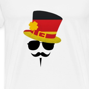Germany Go Moustache T-Shirts - Men's Premium T-Shirt
