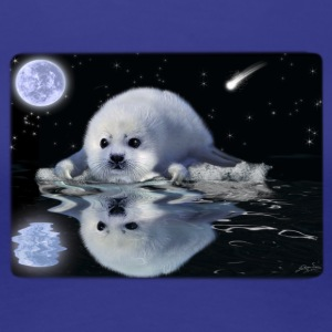 Baby Harp Seal & Moon - Women's Premium T-Shirt